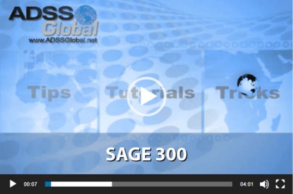 Sage 300 Video Training Thumbnail
